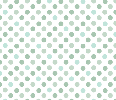 Polka Dot Charm greens fabric by karenharveycox on Spoonflower - custom fabric