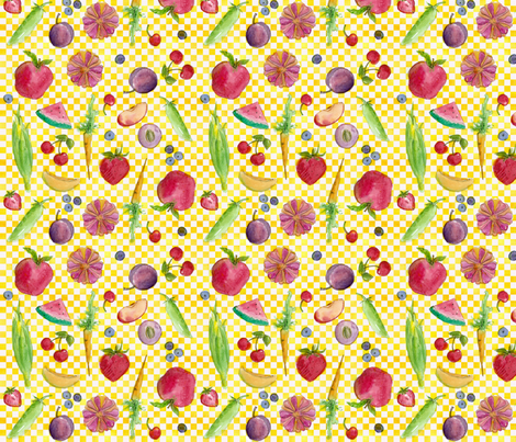 Farmers Market Fresh  fabric by countrygarden on Spoonflower - custom fabric