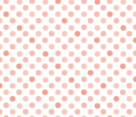 Polka Dot Charm peach fabric by karenharveycox on Spoonflower - custom fabric