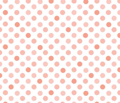 Polka Dot Charm peach fabric by karenharveycox on Spoonflower - custom fabric