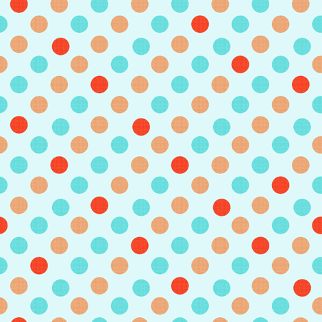 Polka Dot Fun, aqua background fabric by karenharveycox on Spoonflower - custom fabric