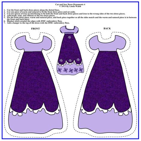 Victorian Cut and Sew Dress Ornament  Fabric #4