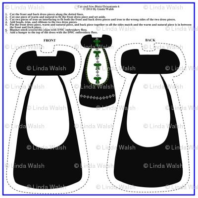 Victorian Cut and Sew Dress Ornament  Fabric #6