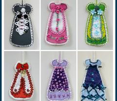 Victorian Cut and Sew Dress Ornament  Fabric #7