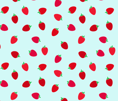 Straberry Blue fabric by domoshar on Spoonflower - custom fabric
