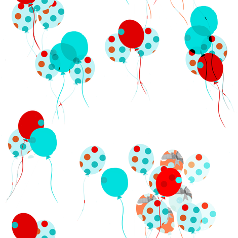 The Polka Dot Balloon fabric by karenharveycox on Spoonflower - custom fabric