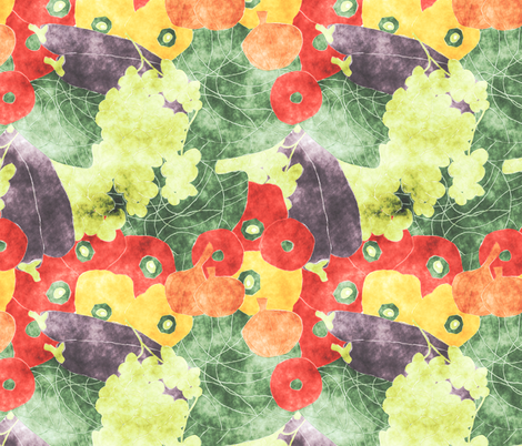 vegetable medley fabric by kociara on Spoonflower - custom fabric