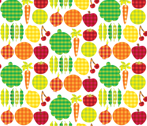 Gingham Goods fabric by ravenous on Spoonflower - custom fabric