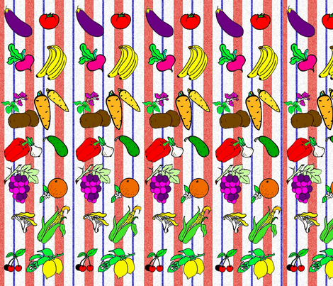 Fruit veggie smoothie fabric by retroretro on Spoonflower - custom fabric