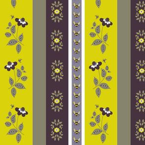 midsummer  floral stripe