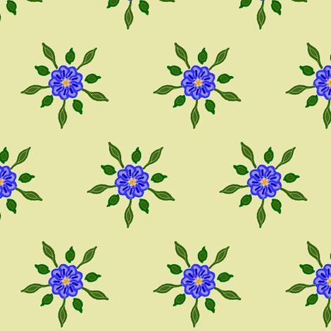 Cornflowers fabric by ravynscache on Spoonflower - custom fabric