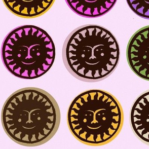 Black Papel Picado Suns