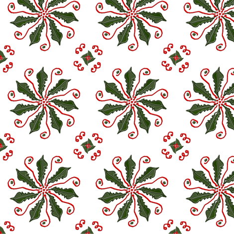 Christmas Pinwheel fabric by ravynscache on Spoonflower - custom fabric