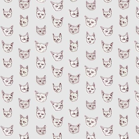 Gritty Kitties | Shades of Grey fabric by imaginaryanimal on Spoonflower - custom fabric