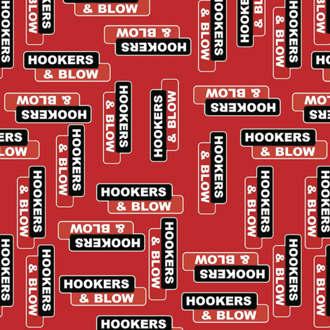 hookers and blow red fabric by whimzwhirled on Spoonflower - custom fabric