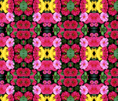 In The Flower Garden fabric by theartwerks on Spoonflower - custom fabric