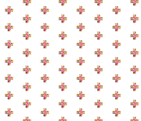 Summer Bright + Crosses fabric by theartwerks on Spoonflower - custom fabric