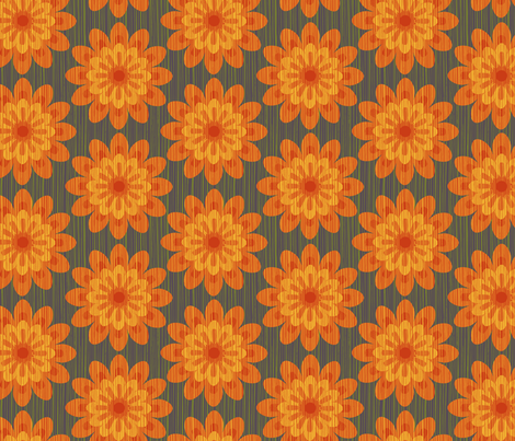 zinnia orange fabric by cjldesigns on Spoonflower - custom fabric