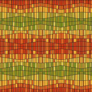 lantern pattern orange