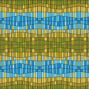 lantern pattern blue