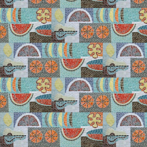 Mid Century Fruit Mosaic