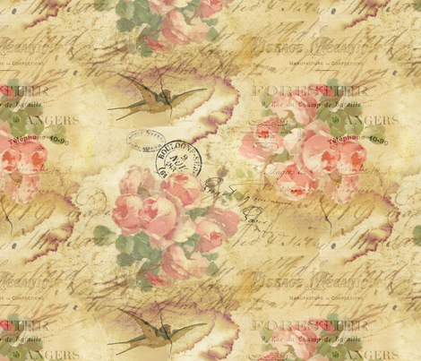 Dirty Bird fabric by peagreengirl on Spoonflower - custom fabric