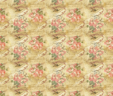 Dirty Bird fabric by peagreengirl on Spoonflower - custom fabric