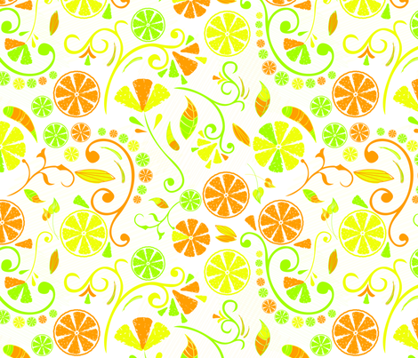 Citrus_Fruit fabric by nerkquirks on Spoonflower - custom fabric