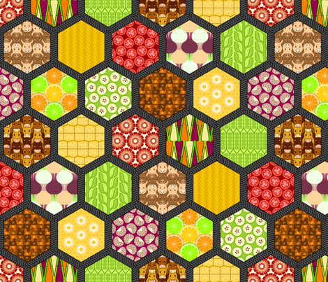 farmers market mashup fabric by sef on Spoonflower - custom fabric