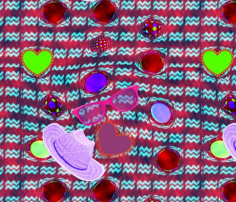 Picnic love fabric by tissu-de-jardins on Spoonflower - custom fabric