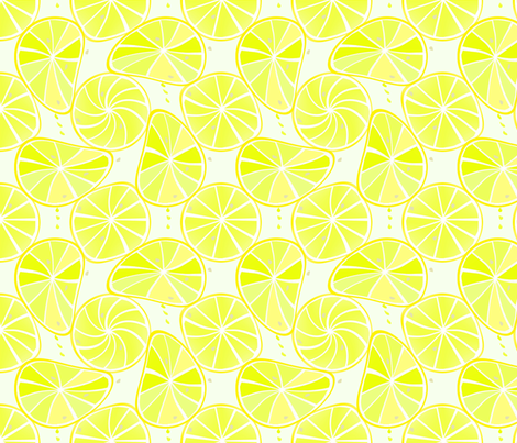 Lemon_slices fabric by alfabesi on Spoonflower - custom fabric