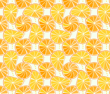 orange-tangerine slices fabric by alfabesi on Spoonflower - custom fabric