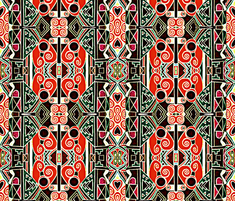 Ethnic Inspired geometrics fabric by whimzwhirled on Spoonflower - custom fabric