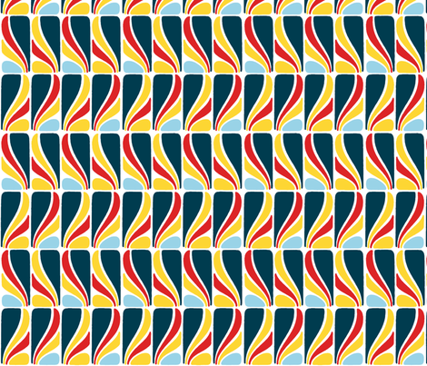 Fans - in Sailing Colors fabric by elramsay on Spoonflower - custom fabric