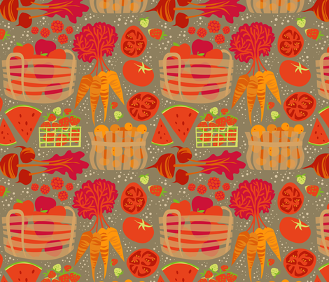 MarketLove_onKhaki fabric by robinpickens on Spoonflower - custom fabric