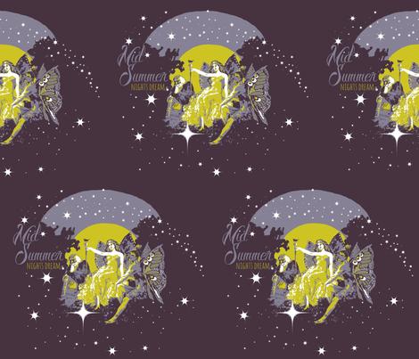 Midsummer night's dream fairies fabric by paragonstudios on Spoonflower - custom fabric