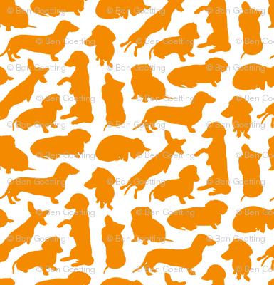 Dachshund Party Orange