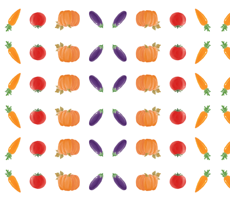 farmer's harvest fabric by iris\\\+cloud on Spoonflower - custom fabric