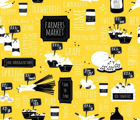 Farmers market fabric by keksmade on Spoonflower - custom fabric