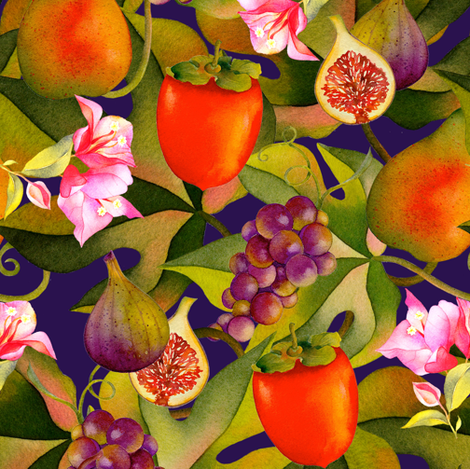 Abundant Harvest fabric by divadeba on Spoonflower - custom fabric