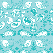Farm Paisley Pattern Blue