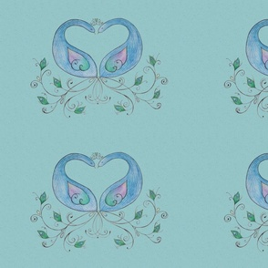 green_peacocks_spoonflower