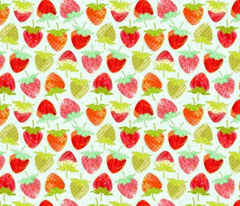 Berry Good (zoom for detail) fabric by nadiahassan on Spoonflower - custom fabric