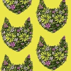 Flower Cats | Green-Gold
