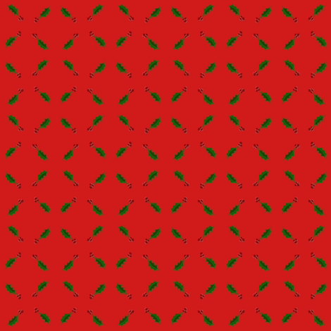 Christmas Holly fabric by ravynscache on Spoonflower - custom fabric