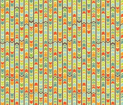 Farmer's Market - Midsummer Palette - Chevron fabric by jennartdesigns on Spoonflower - custom fabric