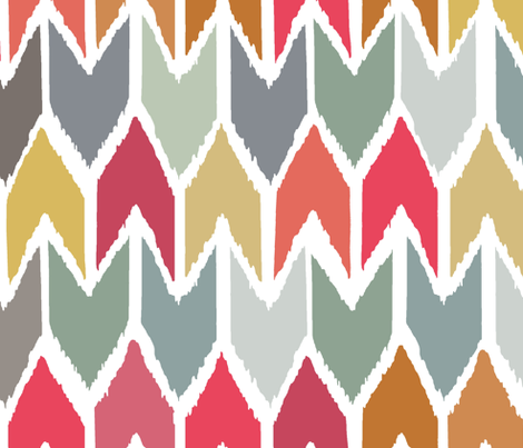 cool beach house ikat chevron large fabric by scrummy on Spoonflower - custom fabric