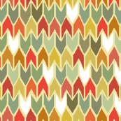 warm beach house ikat chevron large