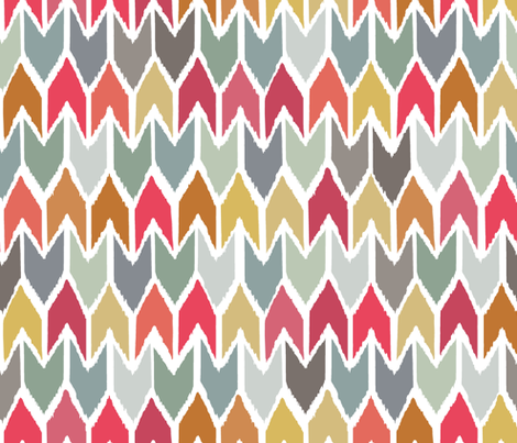 cool beach house ikat chevron small fabric by scrummy on Spoonflower - custom fabric
