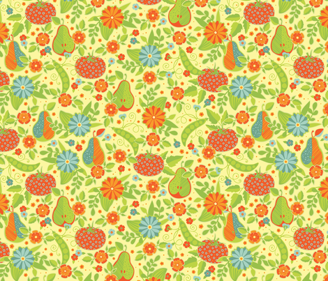 Farmer's Market - Midsummer Palette - Flower Vendor Light fabric by jennartdesigns on Spoonflower - custom fabric